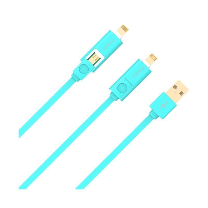 Orico USB 2.0 Cable LTE-10 Kabel Data - USB/Micro B/Lightning - Biru