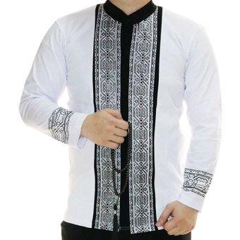 Ormano Baju Koko Muslim Panjang Eksklusif N31 Putih