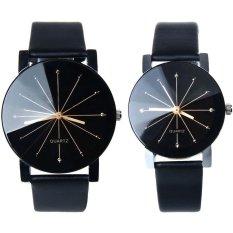 Ormano - Jam Tangan Couple - Hitam - Strap Leather - Adelino Couple Watch