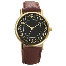 Ormano - Jam Tangan Wanita - Coklat - Strap Kulit - Gold Ring Rossy Lady Watch