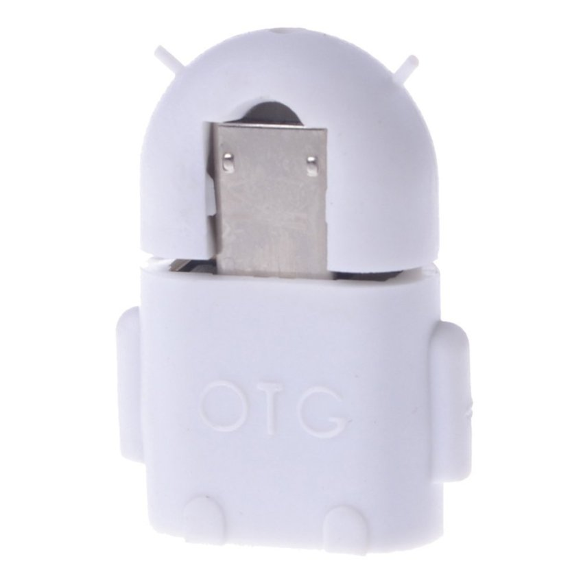 OTG Adapter Cable for Android System Phones and Tablets (White) (Intl)