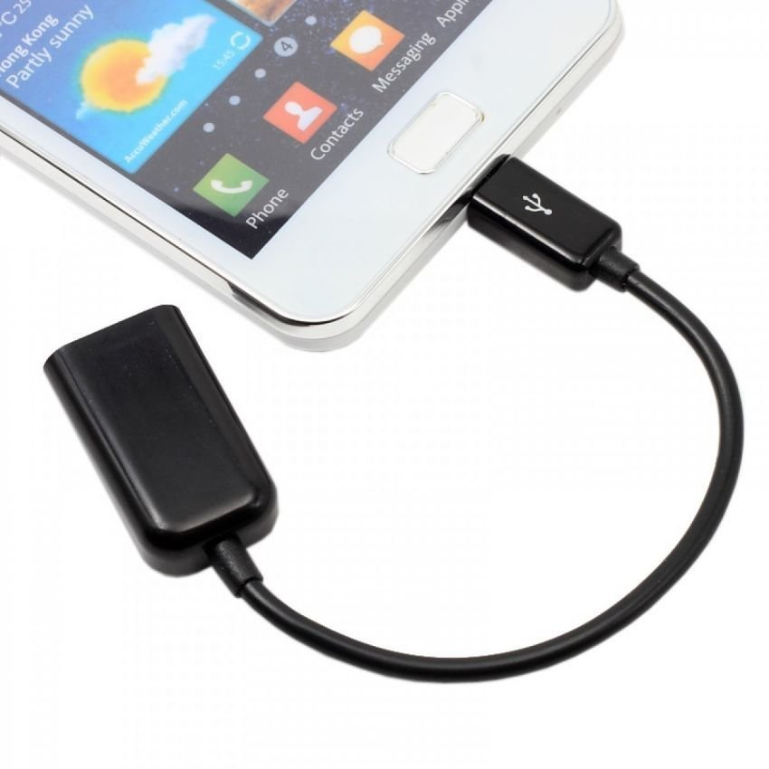OTG USB Adapter Cable Connect Kit for Android - Hitam