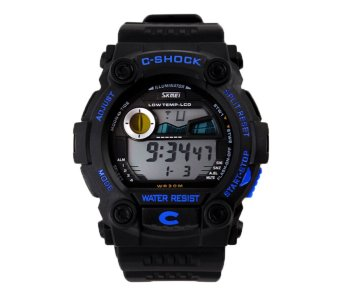 Oxoqo SKMEI Unisex Fashion Multifunction Digital Wrist Watches (Blue)