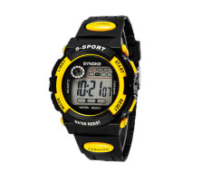 Oxoqo SYNOKE Unisex Student Fashion Digital Wristband Watches (Yellow)