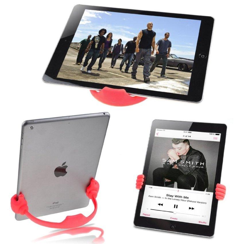 Palm Phone Holder Desk Stand for Apple iPhone Samsung HTC Nexus Tablet Tab (Black) (Intl)