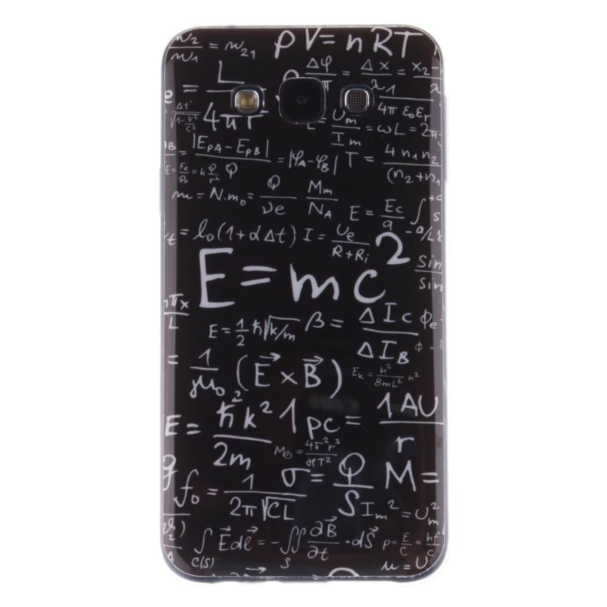 Pattern Clear TPU Silicone Gel Back Cover Skin Soft Case for Samsung Galaxy E7 E7000 (Intl)