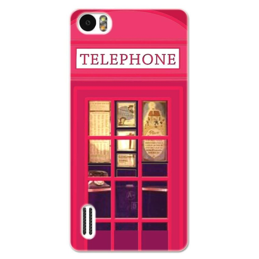 PC Plastic Case for Huawei Honor 6 fuchsia
