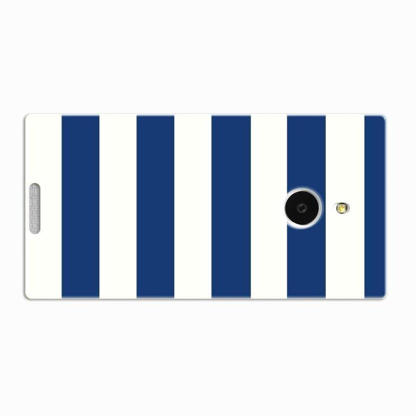 PC Plastic Case for Nokia Lumia 1520 navy and white