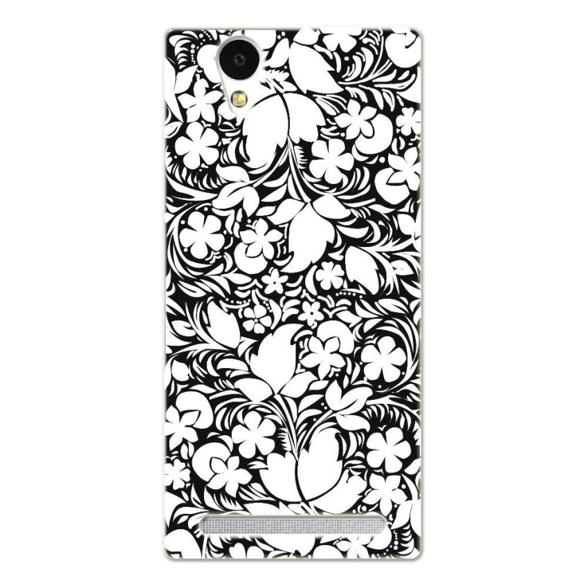 PC Plastic Case for Sony Xperia T2 black-and-white