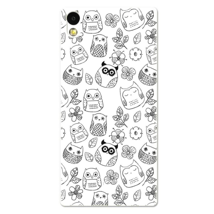 PC Plastic Case for Sony Xperia Z2 black-and-white