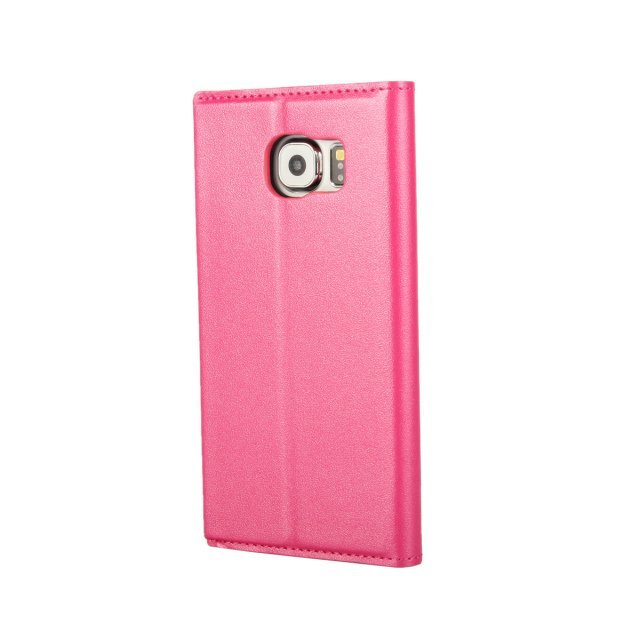 Pearl Grain Purse Holster Cover for Samsung Galaxy S6 (Rose)