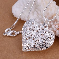 Pendant Necklace 925 Silver Necklace 925 Silver Fashion Jewelry Necklace Heart Jewelry (Intl)