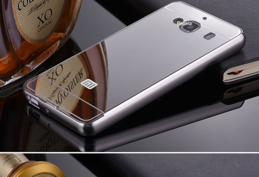 Peonia Xiaomi Redmi 2S  / Redmi 2 Prime Metal Aluminium Bumper with Polycarbonate Backcase  - Silver + Bonus Screenguard
