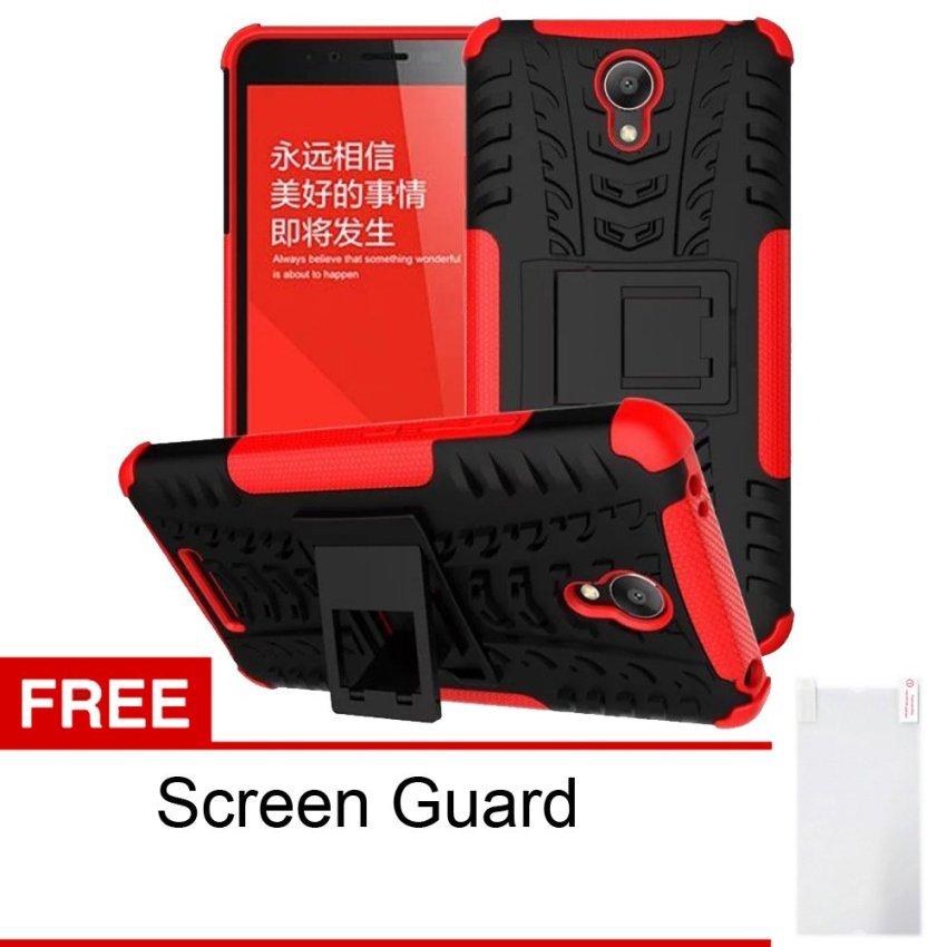 Peonia Xiaomi Redmi Note 2 Softcase Robotic - Merah + Gratis Screenguard
