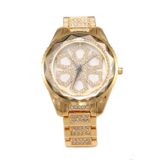 Perfect HEMNEZ Authentic Korean Fashion Trend Diamond Jewelry Watches Fashion Table Quartz Watch Waterproof And Shockproof (Gold) - Intl
