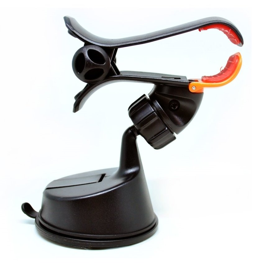 Phone Holder 360 Rotation Car Suction Cup Smartphone Holder - Black
