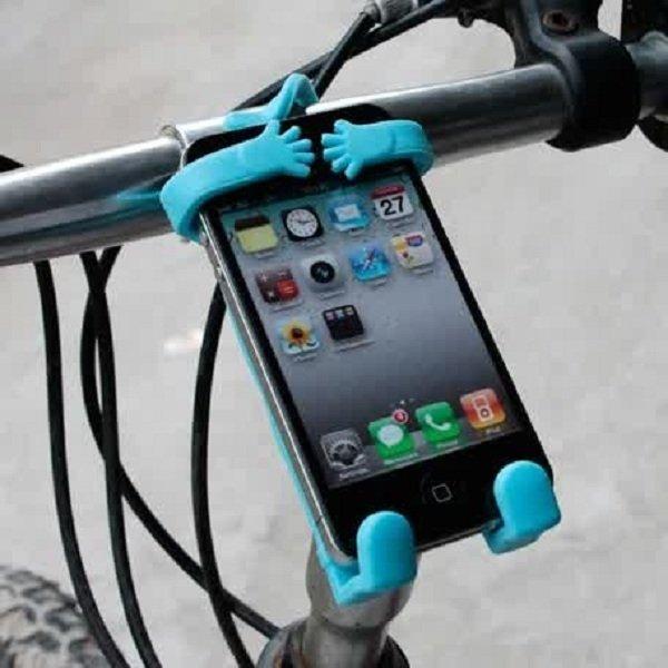 Phone Holder Flexible Human Shaped Mobile - Hitam