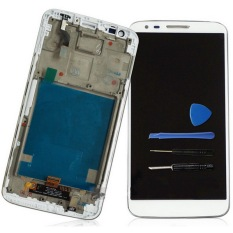 Phone Parts Replacement White Color LCD Display Touch Screen Digitizer Assembly With Frame For LG Optimus G2 F320 With Free Tools - Intl