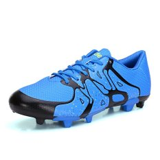 PINSV Synthethic Leather Men's Fashion Sport Shoes Football Shoes (Blue) (Intl)