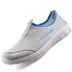 PINSV Women's Breathable Casual Shoes Running Shoes (Grey) - INTL