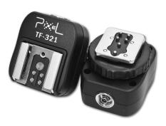 Pixel TF-321 Pixel E-TTL Flash Hot Shoe To Pc Adapter For Canon DSLRs And Flashguns