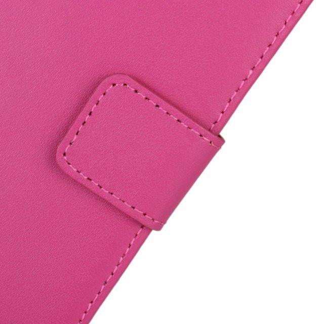 Plain Leather Purse Holster Cover for Huawei G520/G525 (Rose)