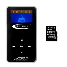 PLT-10.16G TF Card Type MP3 Music Player Bundles with Earphone and USB Cable (Black) (Intl)