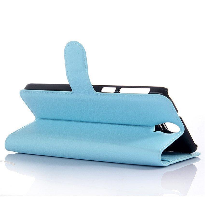 PopSky Wallet Case for HTC One E9 Plus (Blue)