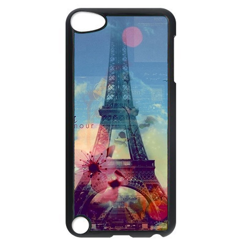 Popular Eiffel Tower Phone Case for iPod Touch 5 (Black)