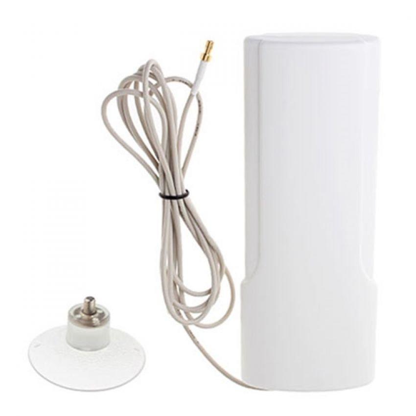 Portable Antena 25dBi Modem Sierra 885u High Gain 3G 4G LTE FDD TDD W-Max 425 Maximal - Putih