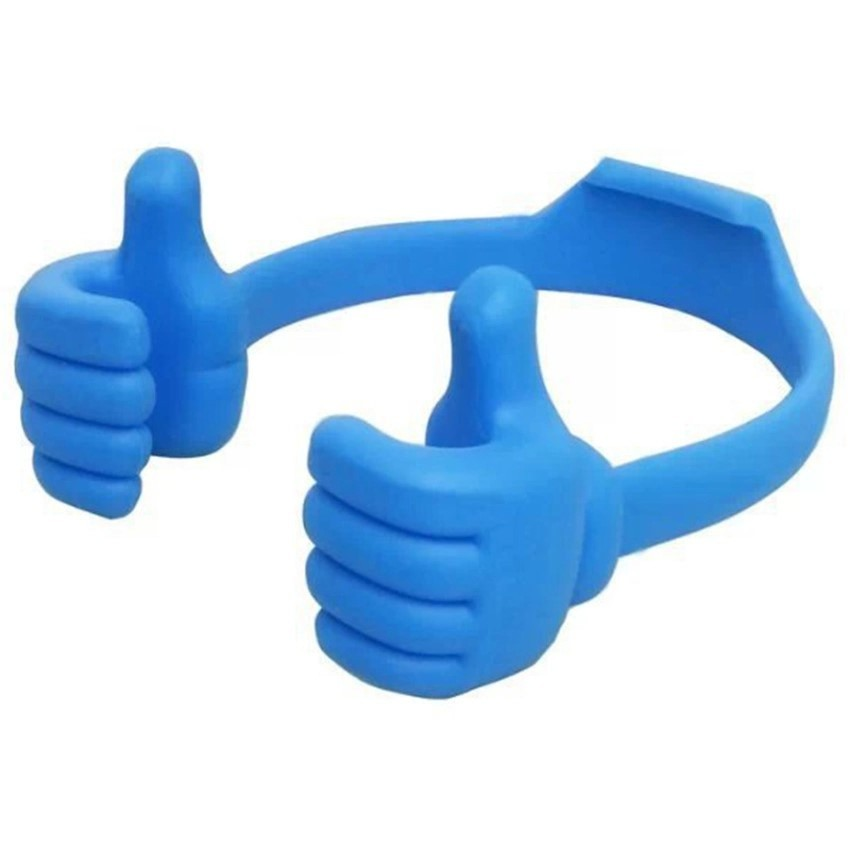 Portable Fashion Cute Thumbs Shape Stand Bracket Cradel Desktop Holder Mount for Phone/Tablet Blue (Intl)