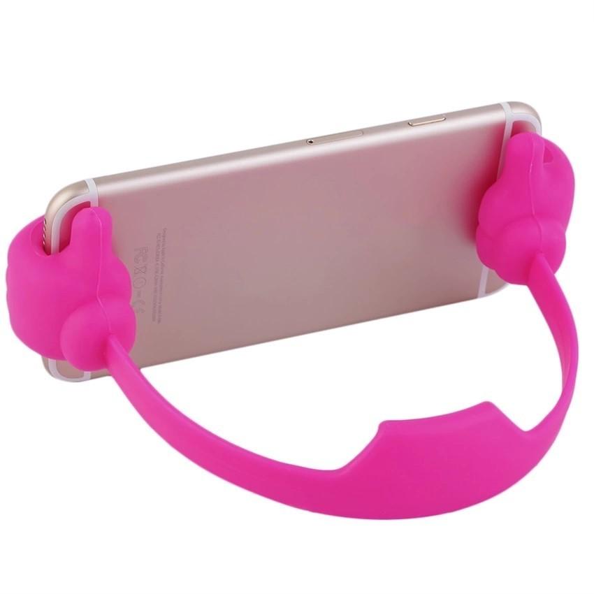 Portable Fashion Cute Thumbs Shape Stand Bracket Cradel Desktop Holder Mount for Phone/Tablet Purple (Intl)