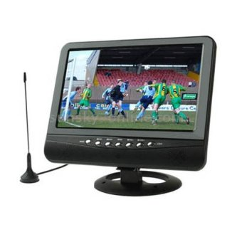 Portable TFT LCD Color Analog TV 7.5 Inch With Wide View Angle - Hitam