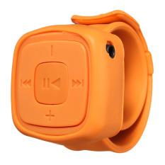 Portable Wrist Mini Sport TF Card MP3 Player Gift Wristband Multi Colors (Orange)