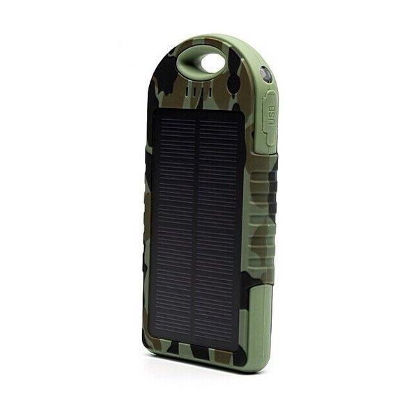 Power Bank Army Solar Charger Real Capacity 5000 mAH