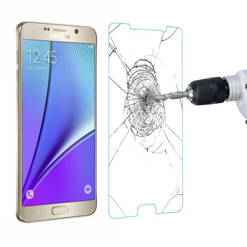 Premium Glass Film Real Tempered Glass Screen Protector for Samsung Galaxy Note 5 (Intl)