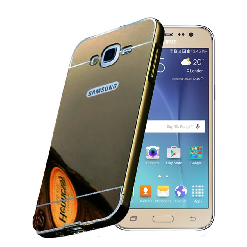 ProCase Case Aluminium Bumper Mirror Slide Case For Samsung Galaxy J5 - Hitam