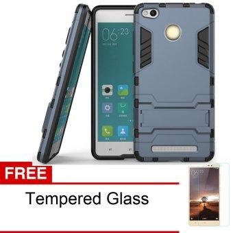 Jual Procase Xiaomi Redmi 3 Pro Kick Stand Series + Gratis Tempered Glass - Hitam -