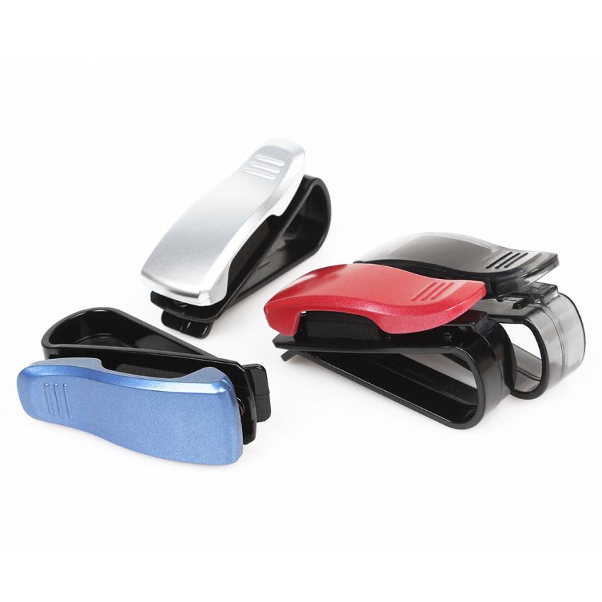 Promosi berkualitas tinggi busana pintar kendaraan mobil kacamata klip visor, Pemegang kacamata, Kasus sunglass (Intl)