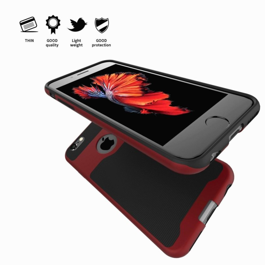 Protective Hybrid Bumper Case for Apple iPhone 6 Plus/6S Plus Red (Intl)