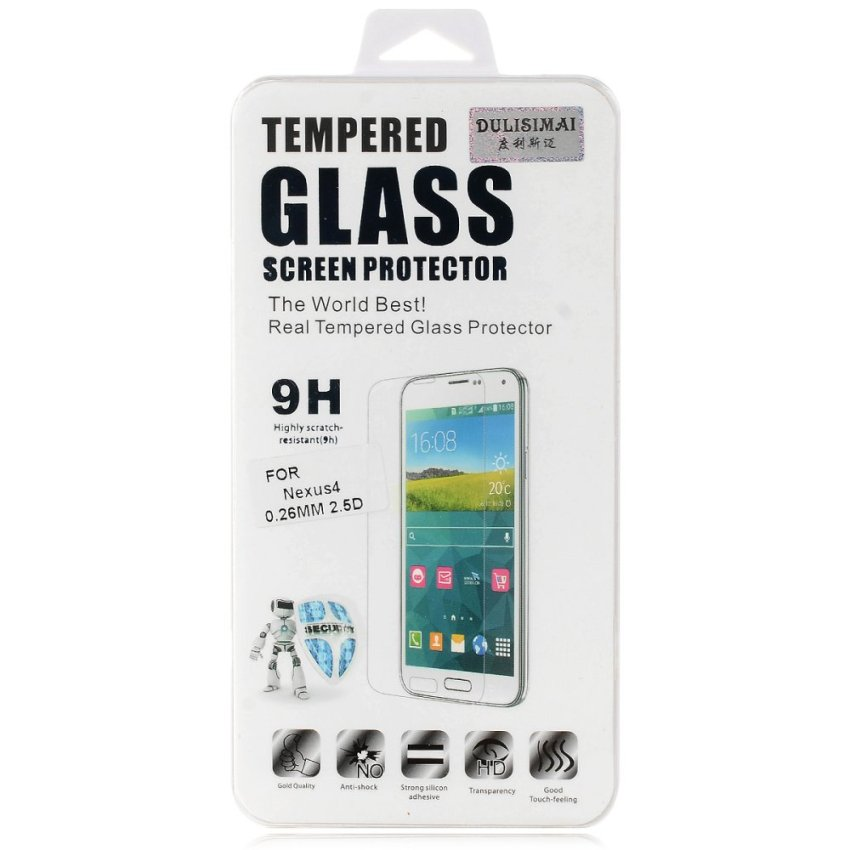 Protective Tempered Glass Screen Protector for Google Nexus 4 (Clear) (Intl)