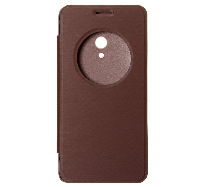 PU Flip Leather Cover for ASUS Zenfone 2/5/6 (Brown) (Intl)