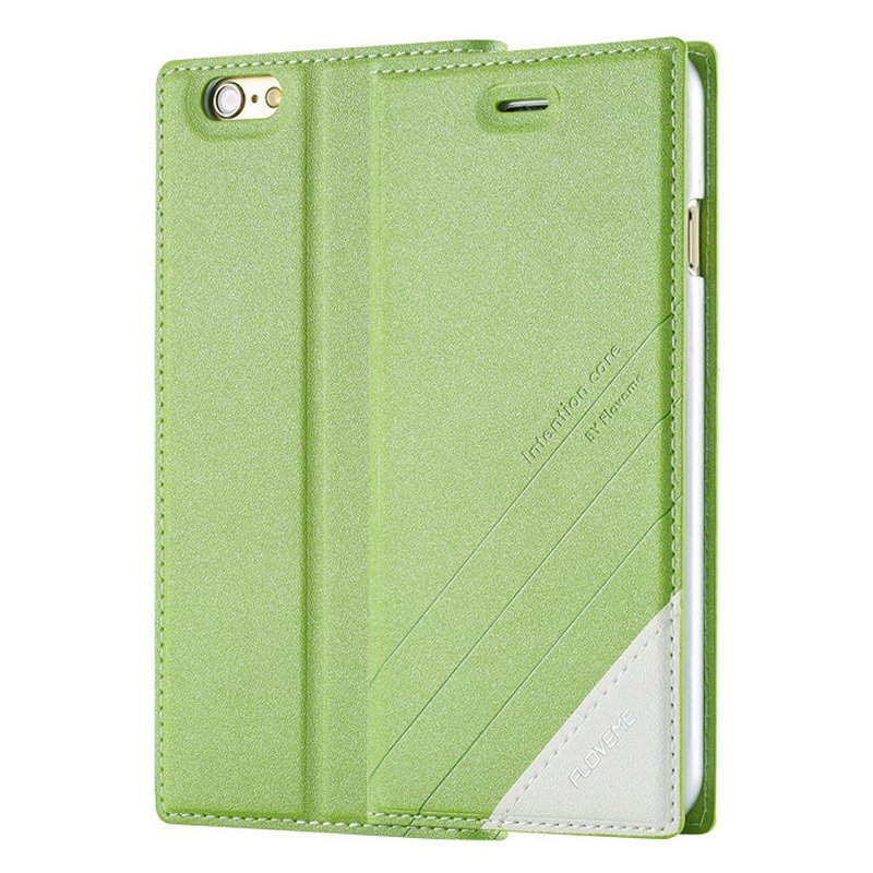 PU Leather Cover for iPhone 6/6S /6s green (Intl)