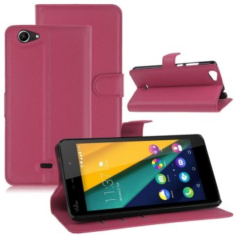Jual PU Leather Folio Wallet Card Holder Stand Holster Cover Case For Wiko Pulp Fab 4G