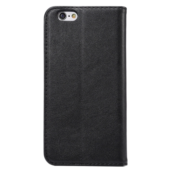 PU Leather Plastic Cover with Card Slots Holder Wallet for iPhone 6/6S (Black) (Intl)