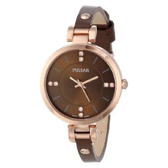 Pulsar Women's PH8068 Analog Display Japanese Quartz Brown Watch (Intl)