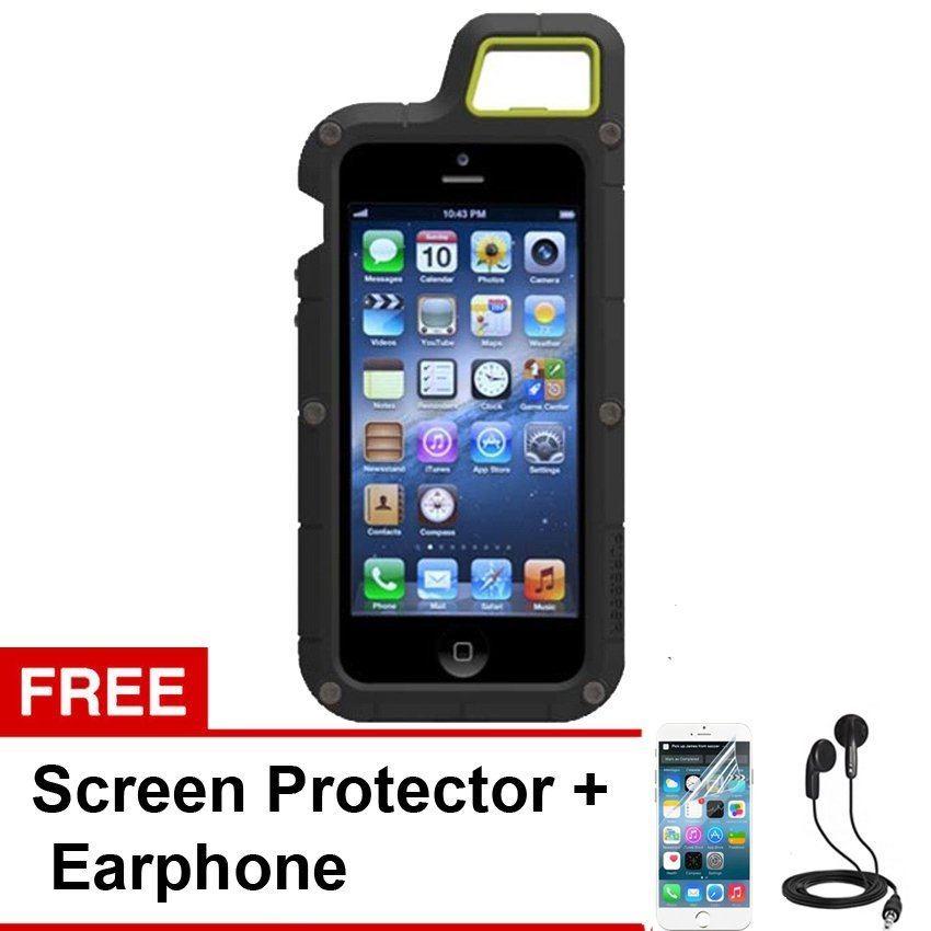Puregear PX360 Case Outdoor Full Protection for Iphone 4 4S -  Hitam + Gratis Screen Protector + Earphone