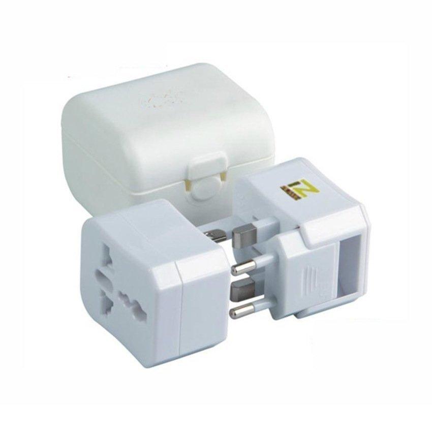 Puwei - Universal Travel Power Adapter Plug Box Set - Putih