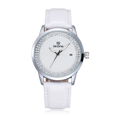 Qooyonq New Authentic Skone Watch Luminous Calendar Full Of Diamond Fashion Ladies Watches