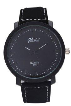 Quartz Wrist Watches Retro Good Quality Leather Watches Vintage Casual Quartz Watches (Black)